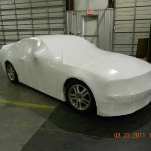 Car wrapped for shipment